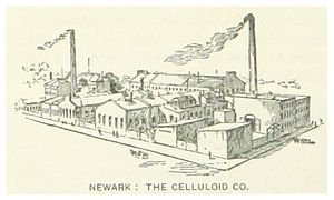 Celluloid - Newark, New Jersey, industrial production complex of the Celluloid Company (c. 1890)