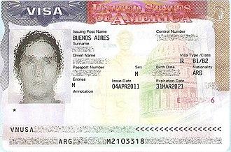 B visa - B1/B2 visa for an Argentinian citizen