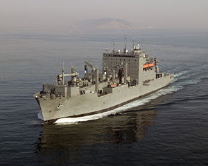 USNS Richard E. Byrd (T-AKE-4) underway outside San Diego harbor.