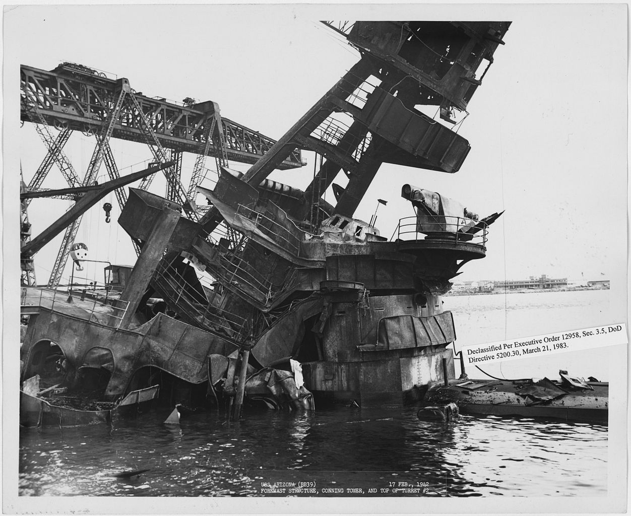 39 Best Images About South Pacific On Pinterest: File:USS Arizona (BB39) Foremast Structure, Conning Tower
