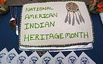 USS Carl Vinson Sailors celebrate American Indian Heritage Month 141112-N-TP834-002.jpg