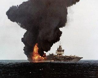 USS <i>Enterprise</i> fire 1969 fire on a US aircraft carrier