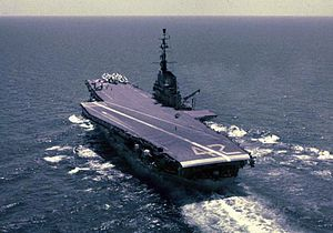 USS Franklin D. Roosevelt (CV-42) - Roosevelt in 1956, after SCB-110 reconstruction