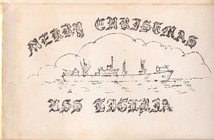 USS Liguria (AKS-15) - Image: USS Liguria Christmas Card Cover