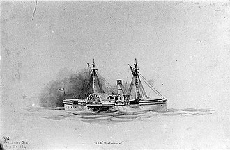 Xanthus Russell Smith - Image: USS Metacomet (1864) by Xanthus Russell Smith (cropped)