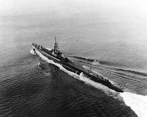 "USS Pomfret (SS-391) in 1951, prior to her ""Guppy IIA"" modernization."
