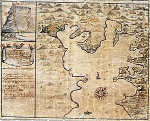 Saint John, U.S. Virgin Islands - Coral Bay, Saint John; Map from 1720
