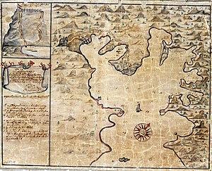 Saint John, U.S. Virgin Islands - Coral Bay, Saint John; Map from 1720
