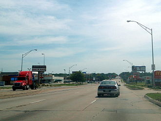 U.S. Route 6 in Nebraska - US 6 runs east as Dodge Street in Omaha