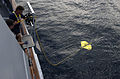 US Navy 040827-N-7676W-089 The Nova Ray model 3500 Remotely Operated Vehicle (ROV) maneuvers away from the Office of Naval Research vessel, YP-679, Afloat Lab.jpg