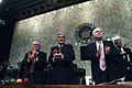US Navy 050210-N-2383B-005 From left, Senators Carl Levin (D-MI), John Warner (R-VA) and John McCain (R-AZ) honor U.S. service members.jpg