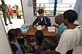 US Navy 050326-N-6665R-035 Cmdr. Karen Mcdonald, a U.S. Navy nurse, cares for Indonesian patients at a clinic in the village of Apui, Indonesia.jpg