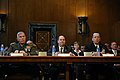 US Navy 070328-N-3642E-027 Secretary of the Navy (SECNAV), the Honorable Dr. Donald C. Winter, Chief of Naval Operations (CNO) Adm. Mike Mullen and Commandant of the Marine Corps Gen. James T. Conway appear before the Senate Ap.jpg