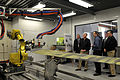US Navy 090217-N-8273J-146 Chief of Naval Operations (CNO) Adm. Gary Roughead receives a tour of the facilities at Naval Undersea Warfare Center while visiting Naval Base Kitsap.jpg