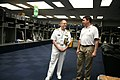 US Navy 110405-N-YM440-034 Rear Adm. Richard C. Vinci tours the Dallas Cowboys facility with head trainer Jim Maurer during Dallas Fort Worth Navy.jpg