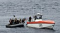 US Navy 110926-N-BC134-035 The visit, board, search and seizure (VBSS) team assigned to the guided-missile cruiser USS Bunker Hill (CG 52) boards a.jpg