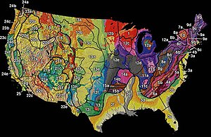 United States physiographic region - Image: US physiographic regions map