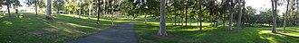 Campus of the University of California, Irvine - Panoramic view of Aldrich Park