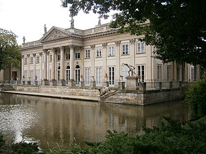 Łazienki Park - Rear (north) façade