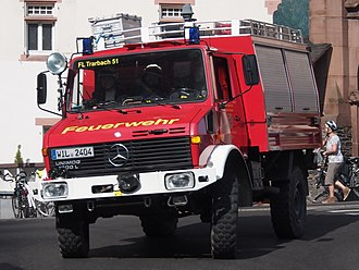 Unimog 435 - Unimog U 1300 L as RW1, german fire department