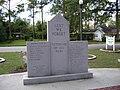 Union Road Park Veterans Memorial Back.JPG