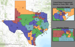 United States Congressional Districts in Texas, 2003 – 2004.tif