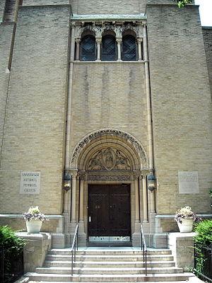 Universalist National Memorial Church - Church door
