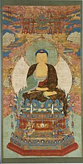 Amitabha Buddha Enthroned under a Canopy