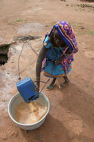 Ryan Hreljac - An example of a woman collecting unsafe water in an area near the Sudan.