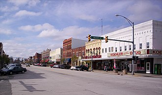 Upper Sandusky, Ohio - Downtown Upper Sandusky on North Sandusky Avenue