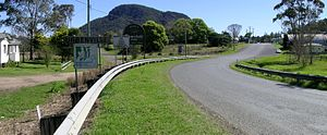 Urbenville, New South Wales - Urbenville with Crown Mountain in the background.