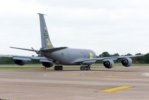 77th Air Refueling Squadron - Squadron KC-135R tanker taxis for take off from RAF Fairford