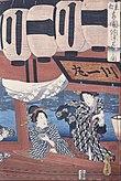 Utagawa Hiroshige - Enjoying the fireworks and the cool of the evening at Ryogoku bridge in the Eastern Capital - Google Art Project.jpg