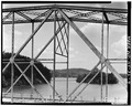 VIEW OF TRUSS PANELS FROM EAST - North Carolina Route 126 Bridge, Spanning Lake James Canal, Linville, Burke County, NC HAER NC,12-MAR.V,1-4.tif