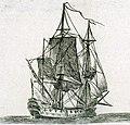 Vaisseau de guerre à deux ponts XVIIIeme siècle vue arrière.jpg