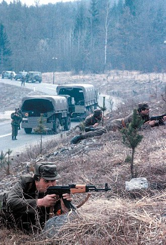 Ten-Day War - Slovenian Territorial defence military drills held in March 1991