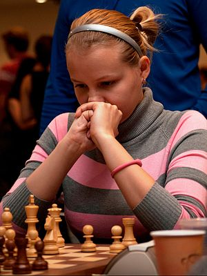 42nd Chess Olympiad - Valentina Gunina of Russia won the individual gold medal in the women's event.