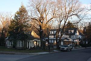 Melrose Park, Pennsylvania - Valley Road in Melrose Park, January 2013