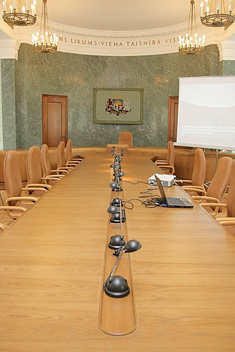 Government of Latvia - Meeting room of the Government of Latvia in the Palace of Justice