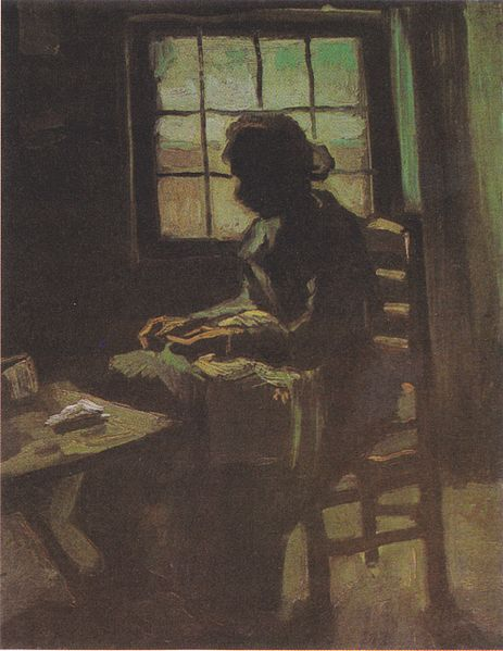 File:Van Gogh - Bäuerin, nähend, vor einem Fenster.jpeg