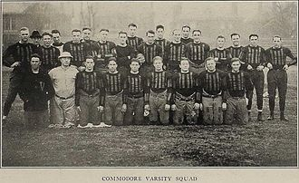 Oliver Kuhn - 1922 team picture; Kuhn is at far right.