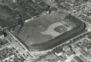Vaughn Street Park - Aerial view from southwest in 1951