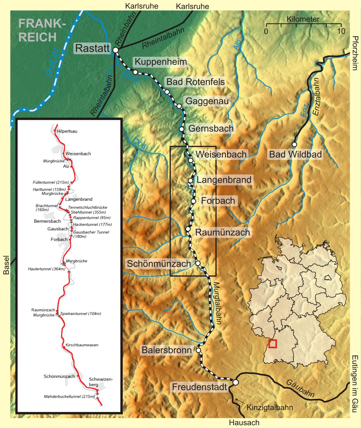 Steam Karte 20.Murg Valley Railway Wikipedia