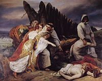 Vernet Edith discovering King Harold's corpse on the battle field of Hastings.jpg