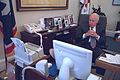 Vice President Cheney Watches Television (19294314964).jpg