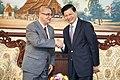 Vicecanciller Marco Albuja se reúne con el MInistro de Relaciones Exteriores de Laos (8409704623).jpg