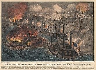 Laurent Millaudon (1856) - Image: Vicksburg Blockade