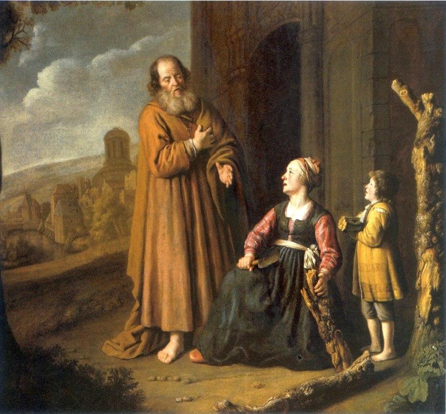 Victors Elijah and the widow of Zarephath