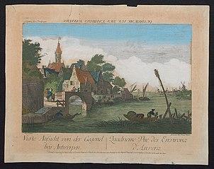 Vierde zicht van de omgeving bij Antwerpen