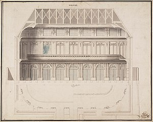 Teylers Museum - Leendert Viervant, design for the Oval Room of Teylers Museum